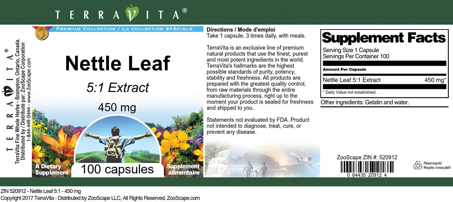 Nettle Leaf 5:1 - 450 mg