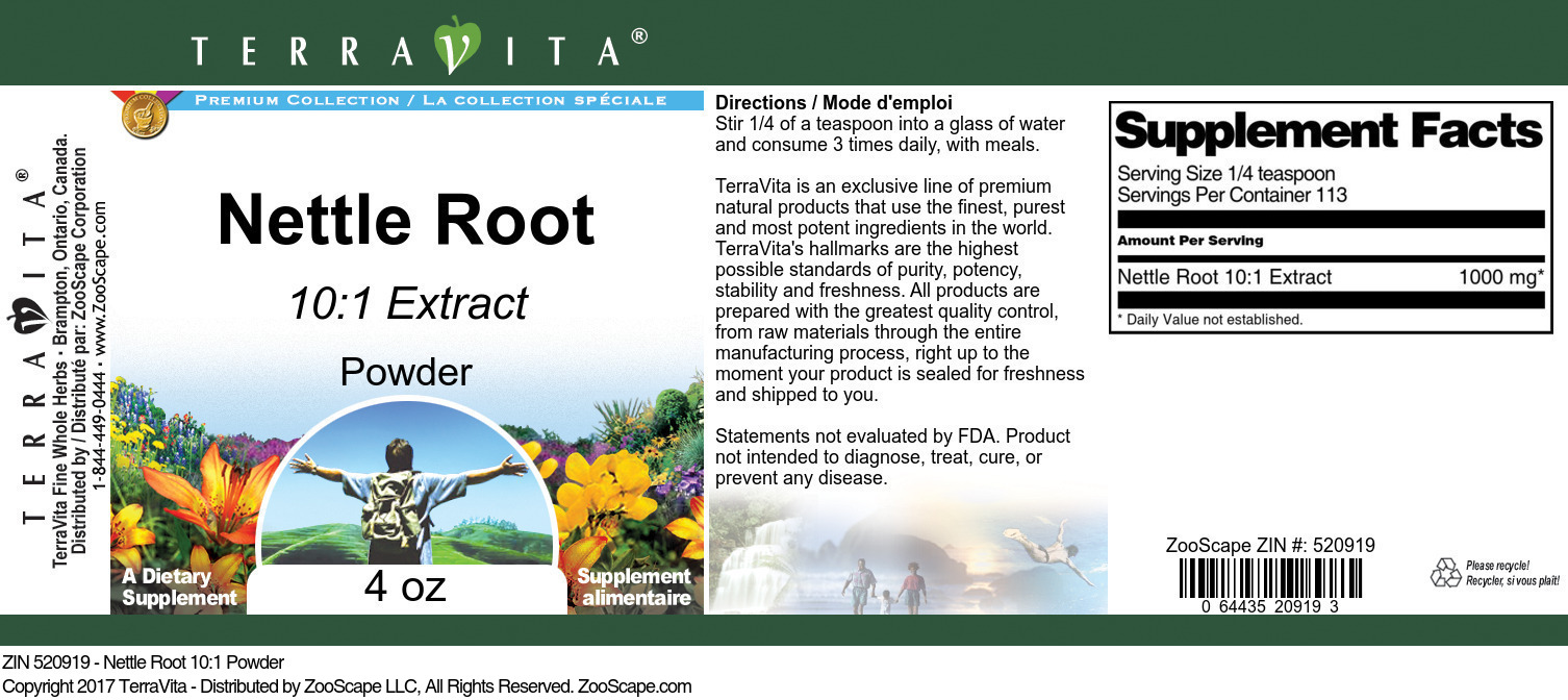 Nettle Root 10:1 Powder