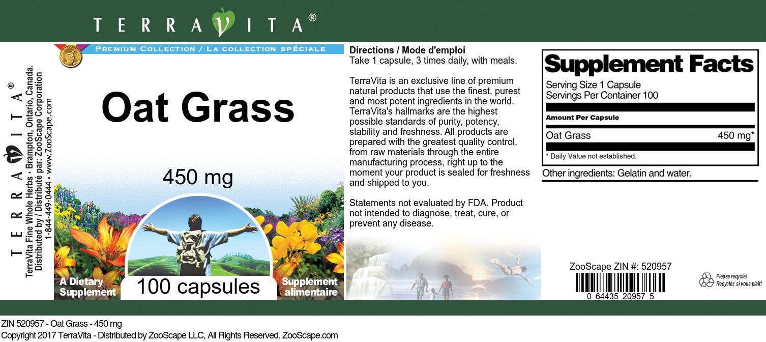 Oat Grass - 450 mg