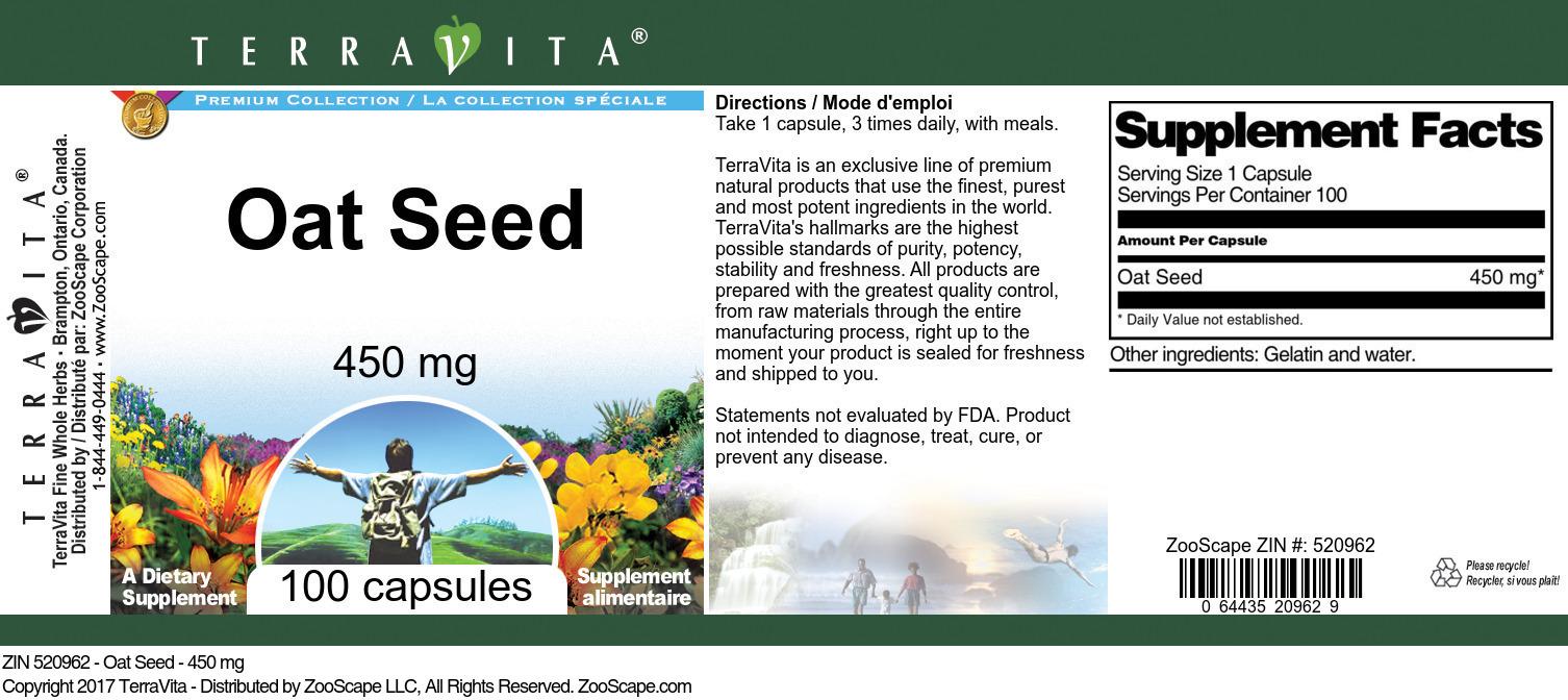 Oat Seed - 450 mg