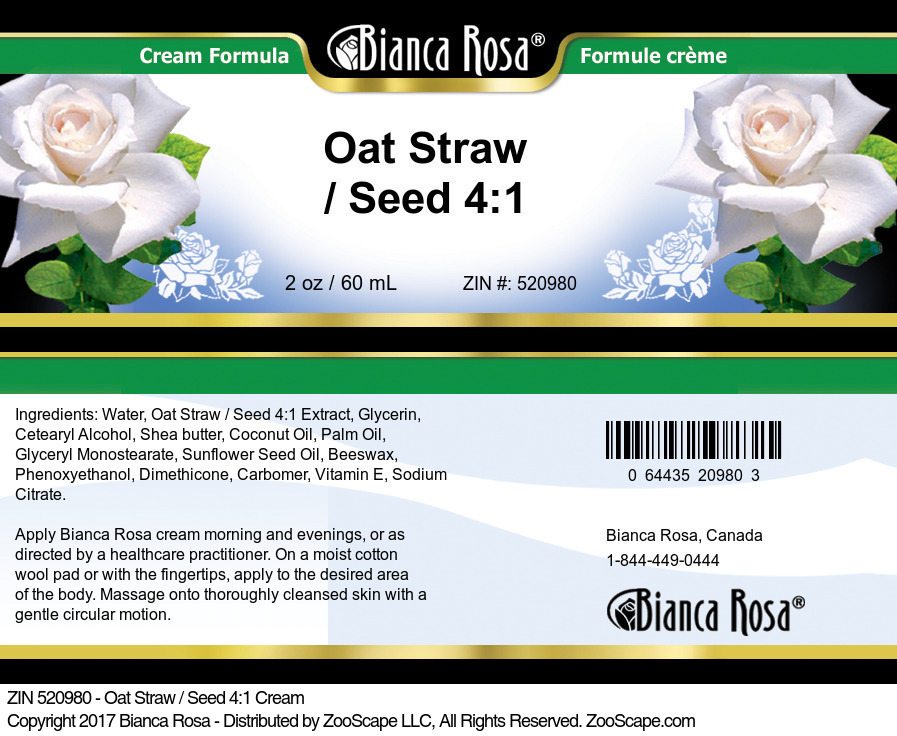Oat Straw / Seed 4:1 Cream