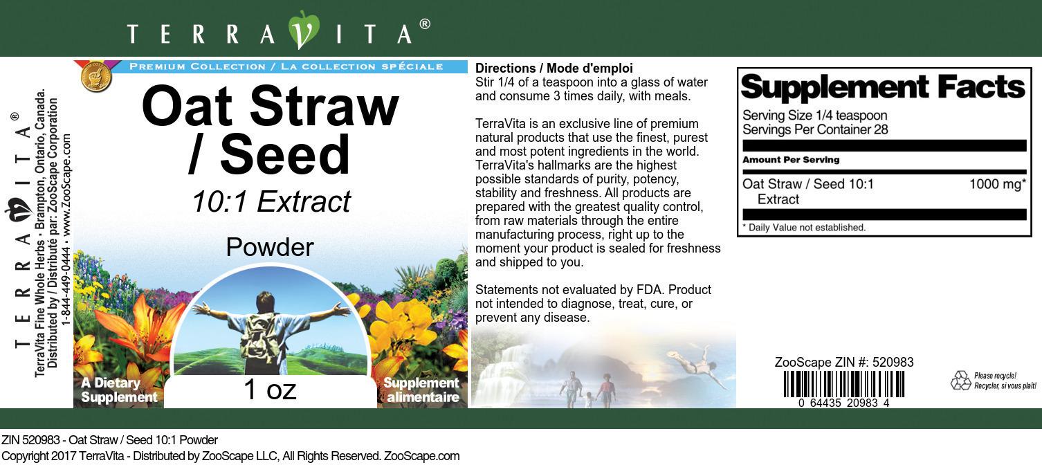 Oat Straw / Seed 10:1 Powder