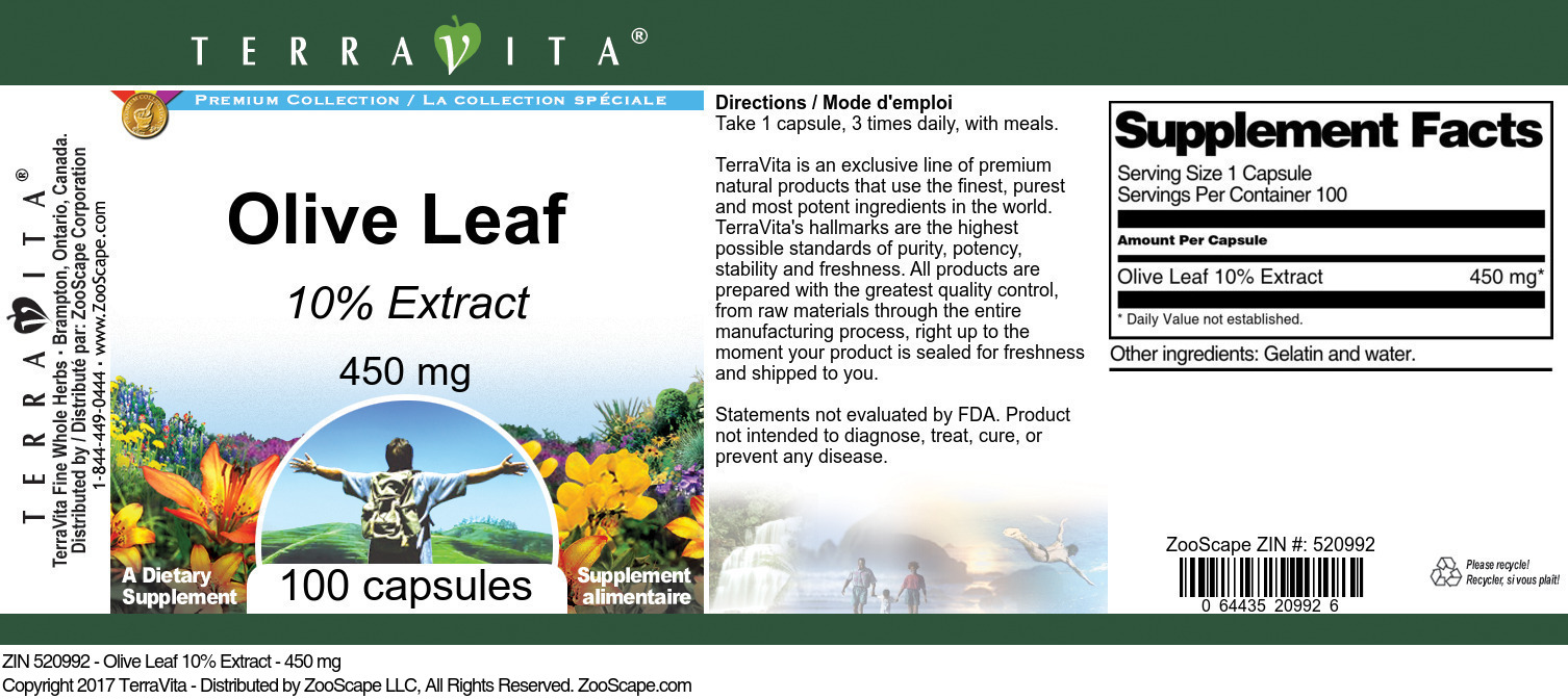 Olive Leaf 10% - 450 mg