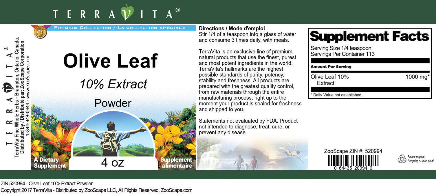 Olive Leaf 10% Extract