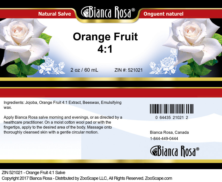 Orange Fruit 4:1 Salve