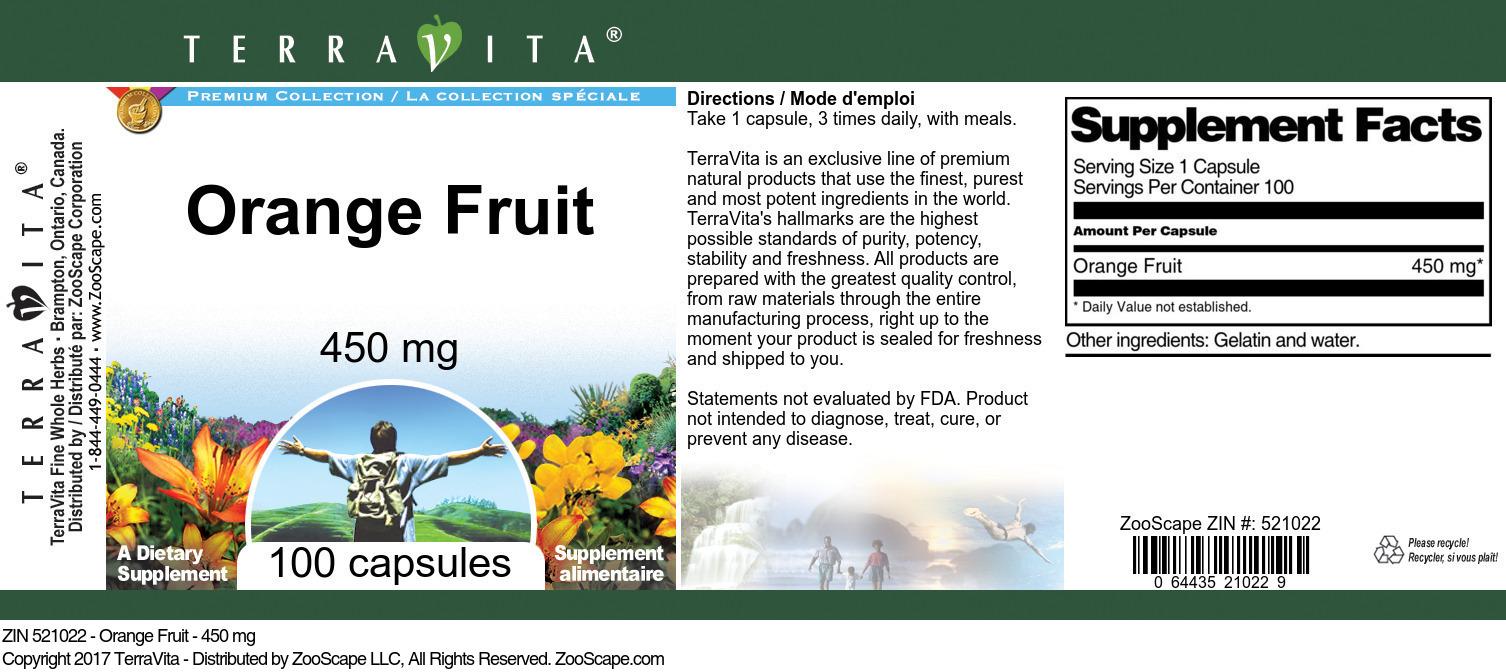 Orange Fruit - 450 mg