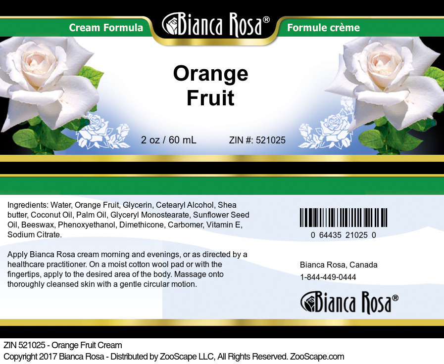 Orange Fruit Cream
