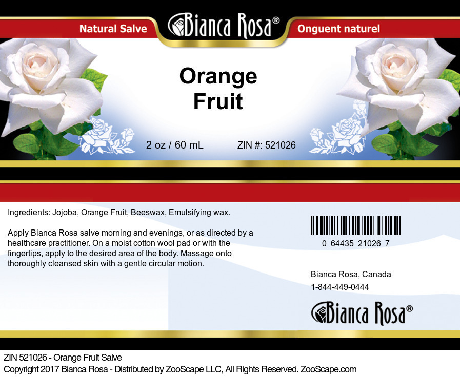 Orange Fruit Salve