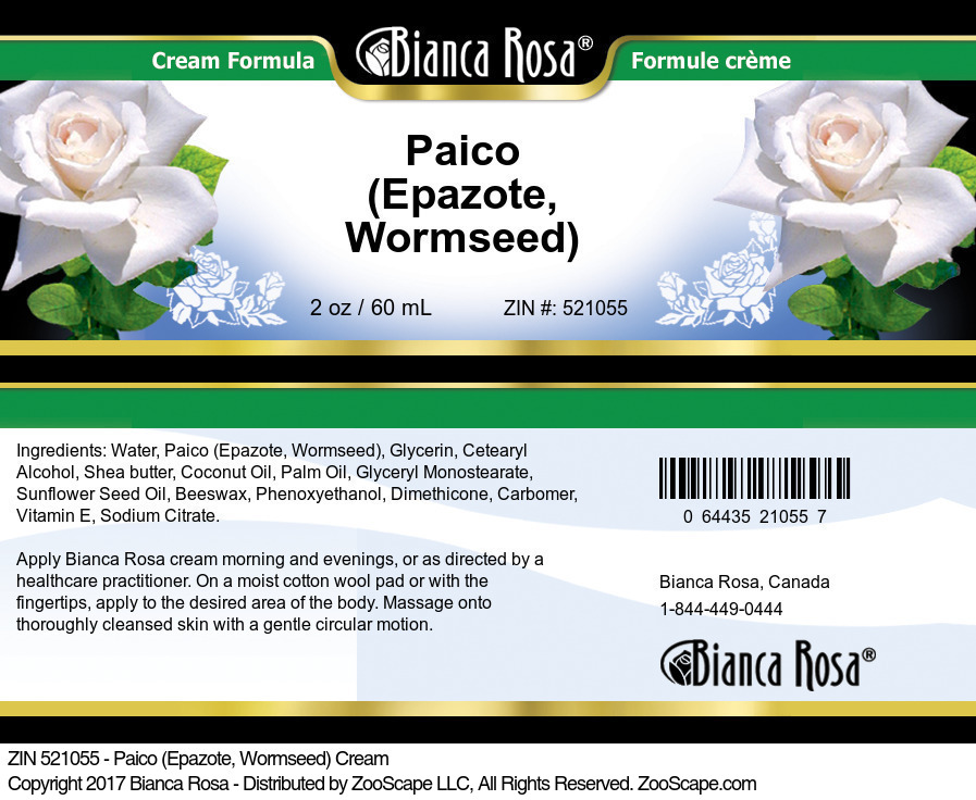 Paico (Epazote, Wormseed) Cream