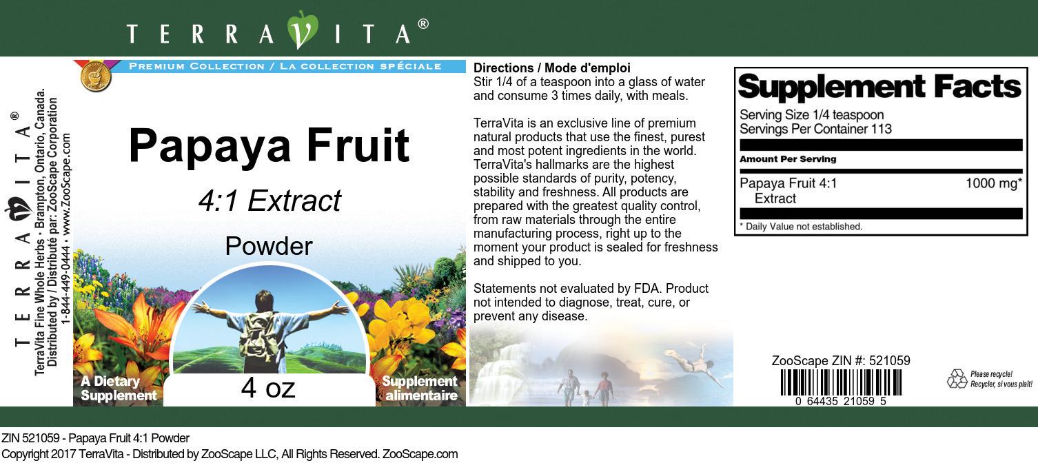 Papaya Fruit 4:1 Extract