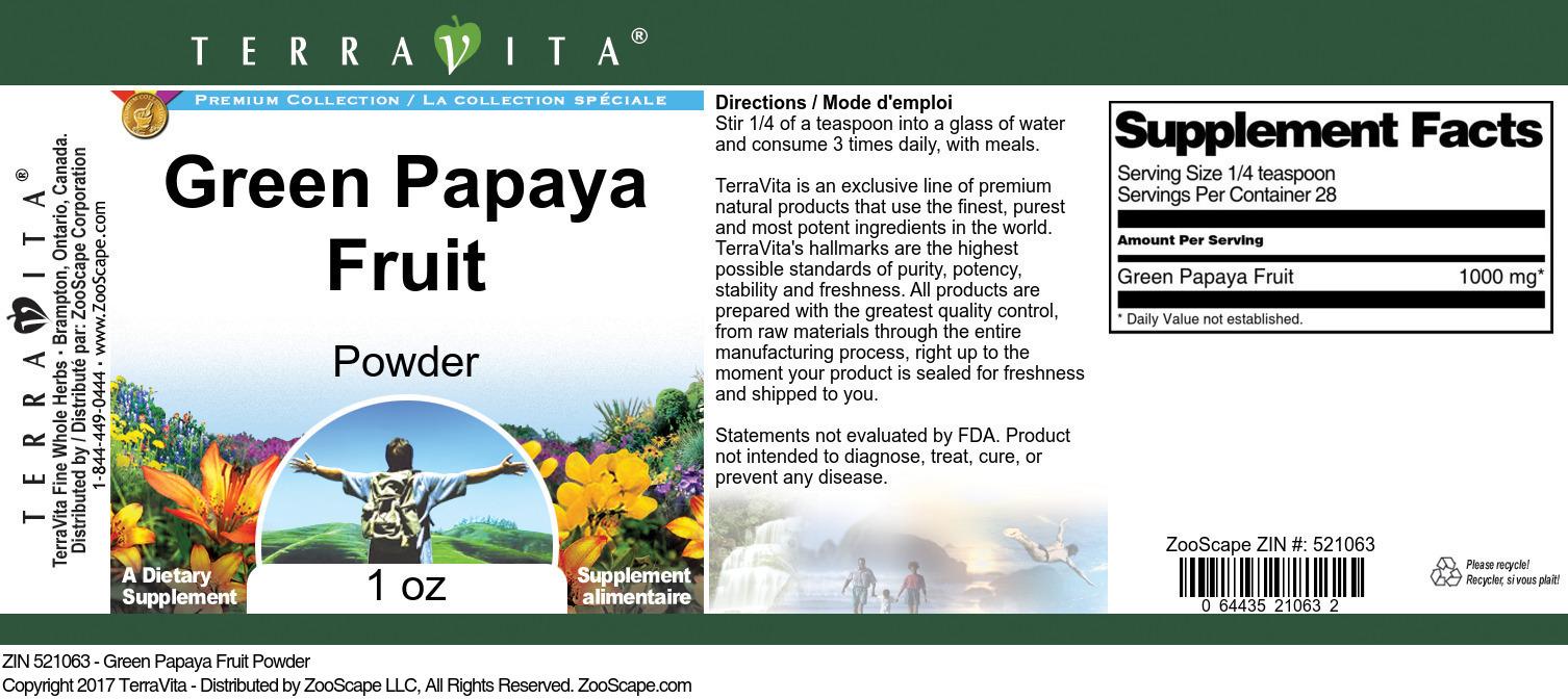 Green Papaya Fruit Powder