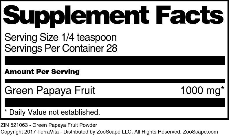 Green Papaya Fruit