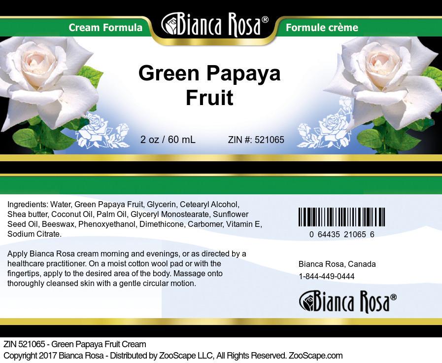 Green Papaya Fruit Cream