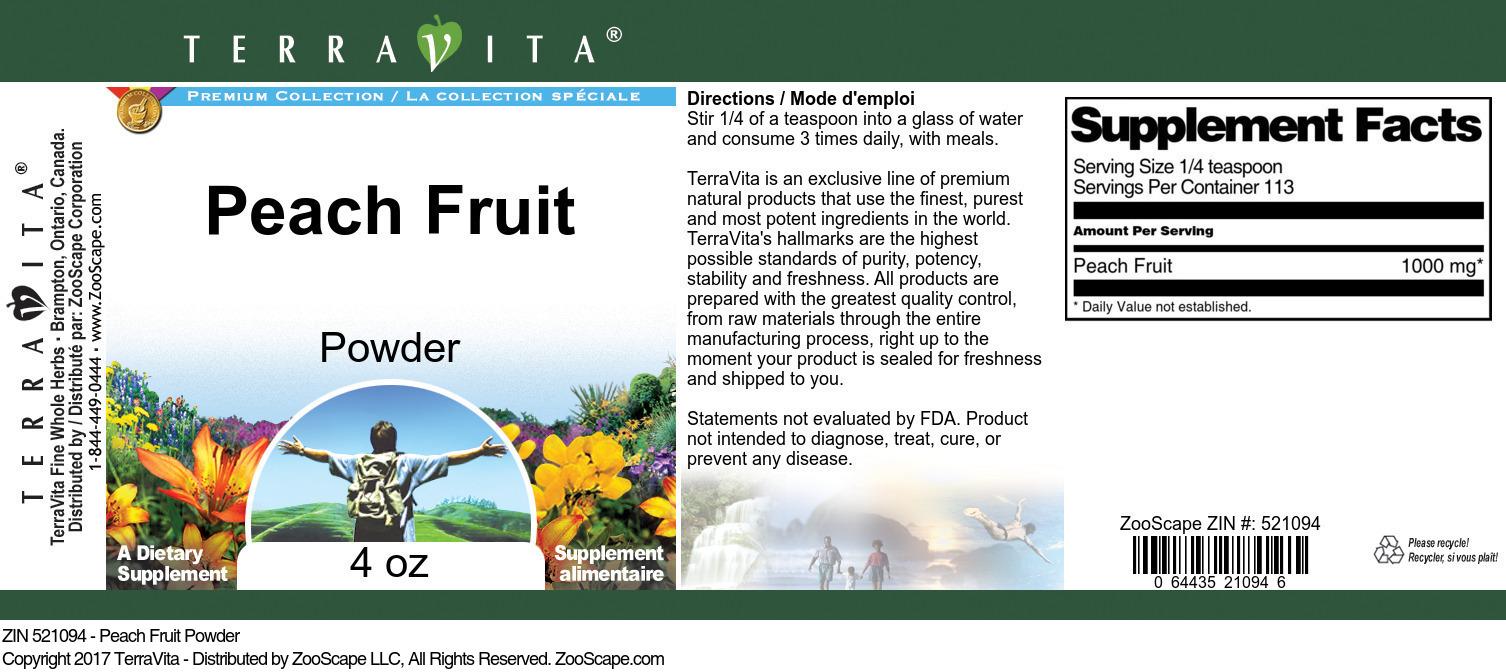Peach Fruit Powder