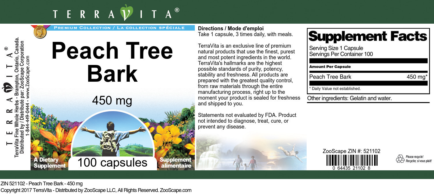 Peach Tree Bark - 450 mg