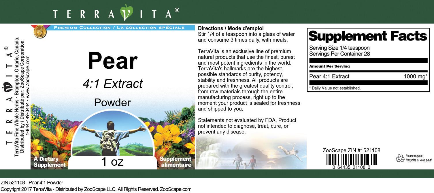Pear 4:1 Powder
