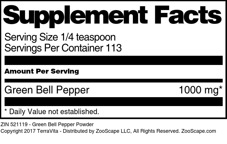 Green Bell Pepper Powder