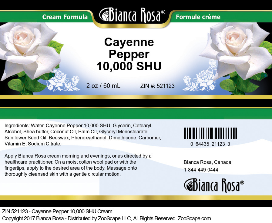 Cayenne Pepper 10,000 SHU Cream