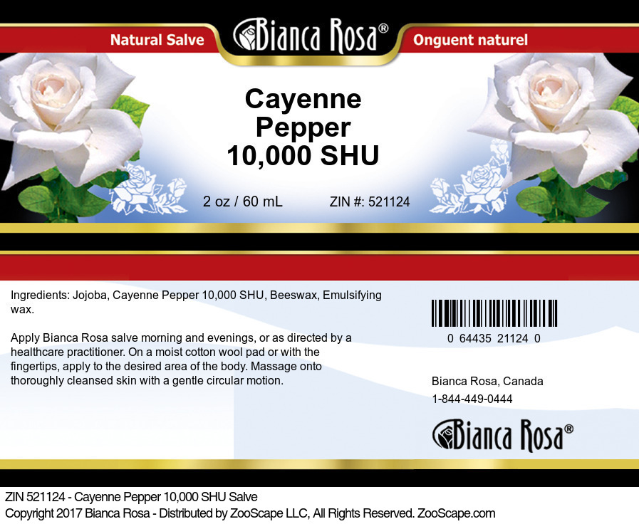 Cayenne Pepper 10,000 SHU Salve