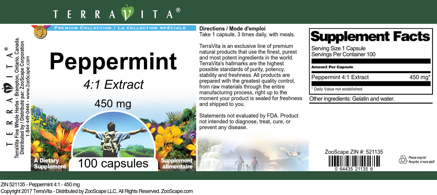 Peppermint 4:1 - 450 mg
