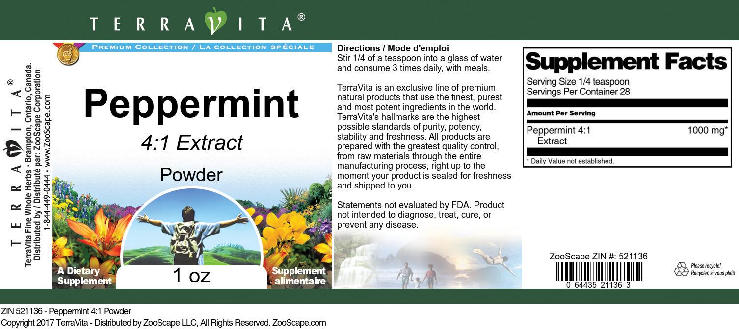 Peppermint 4:1 Powder