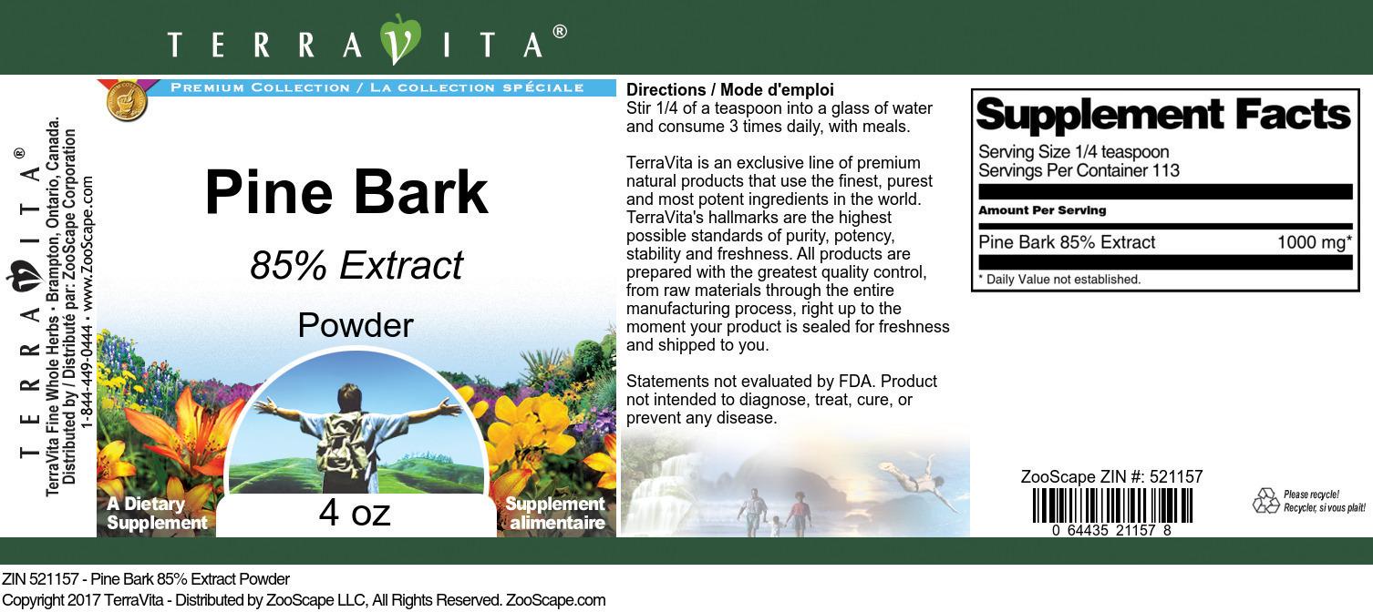 Pine Bark 85% Extract