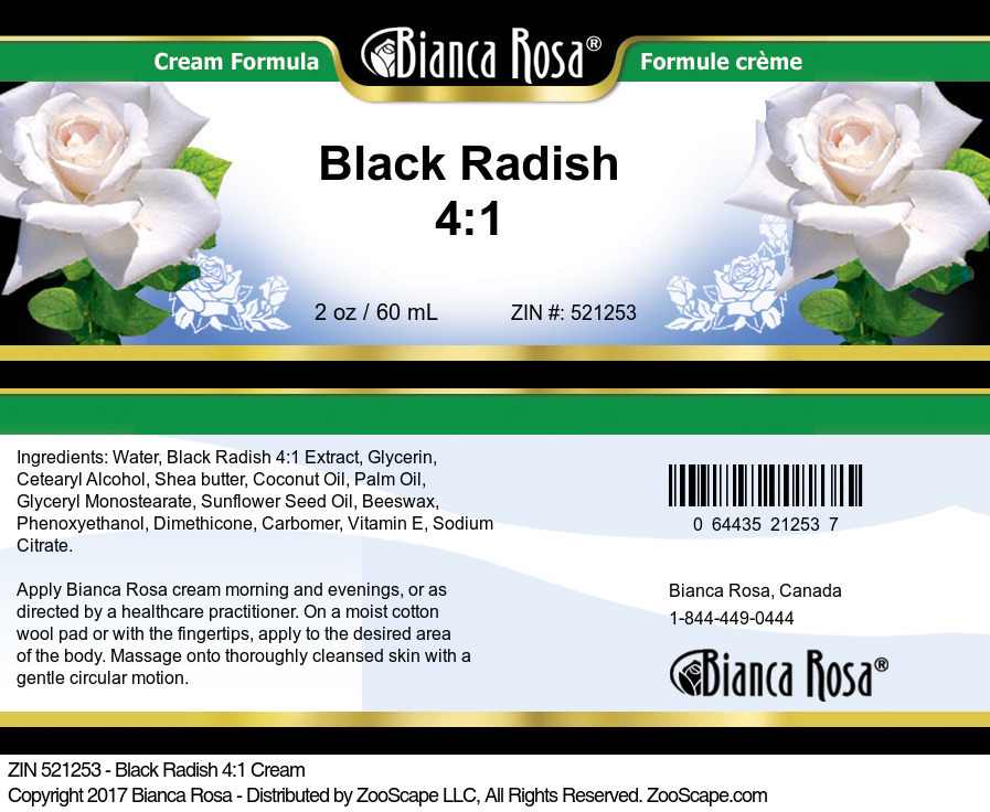 Black Radish 4:1 Cream