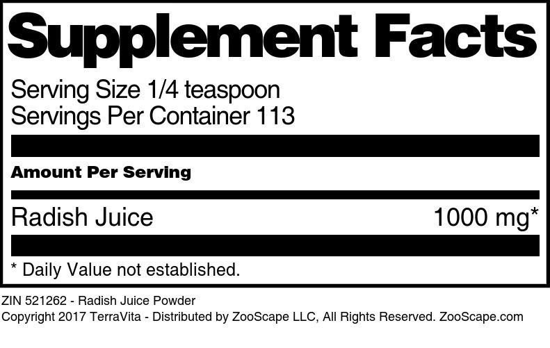 Radish Juice Powder