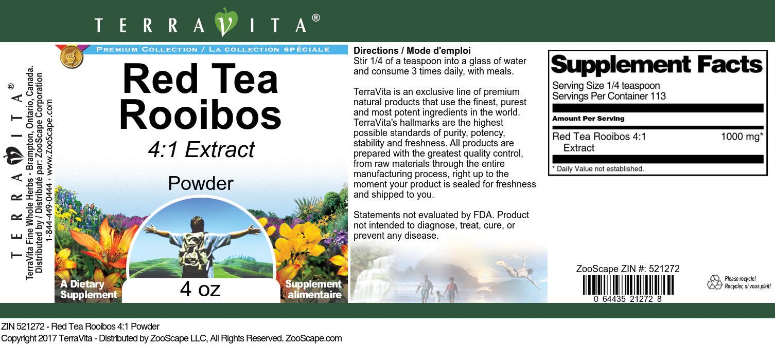 Red Tea Rooibos 4:1 Powder
