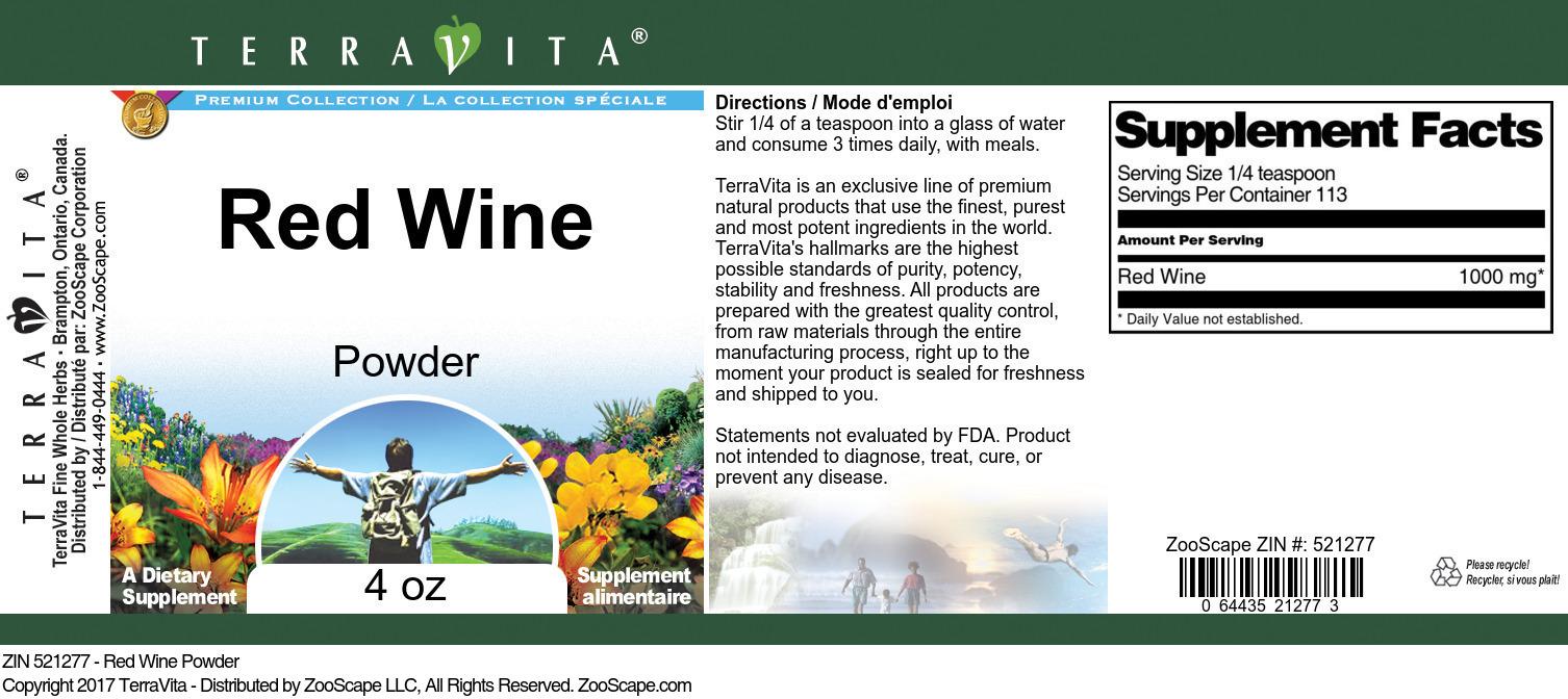 Red Wine Powder