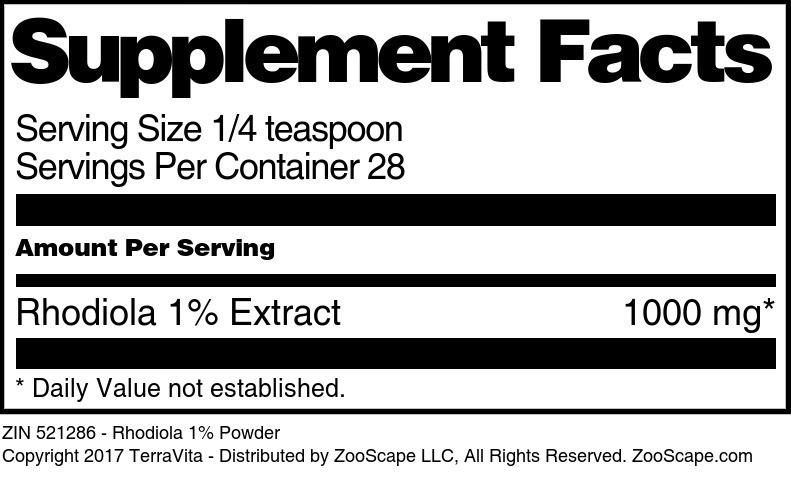 Rhodiola 1% Powder