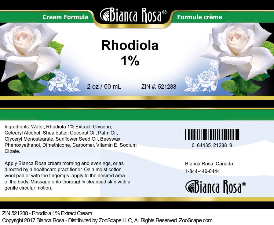 Rhodiola 1% Cream