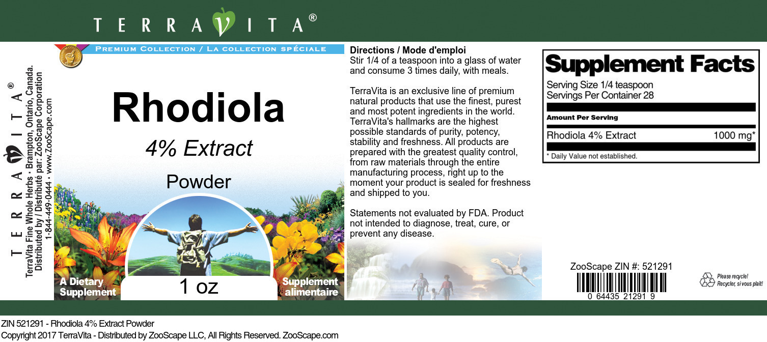 Rhodiola 4% Extract
