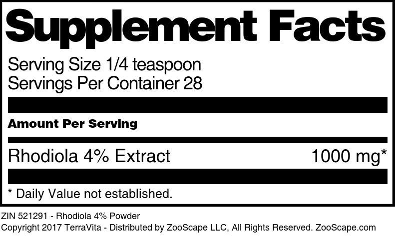 Rhodiola 4% Powder