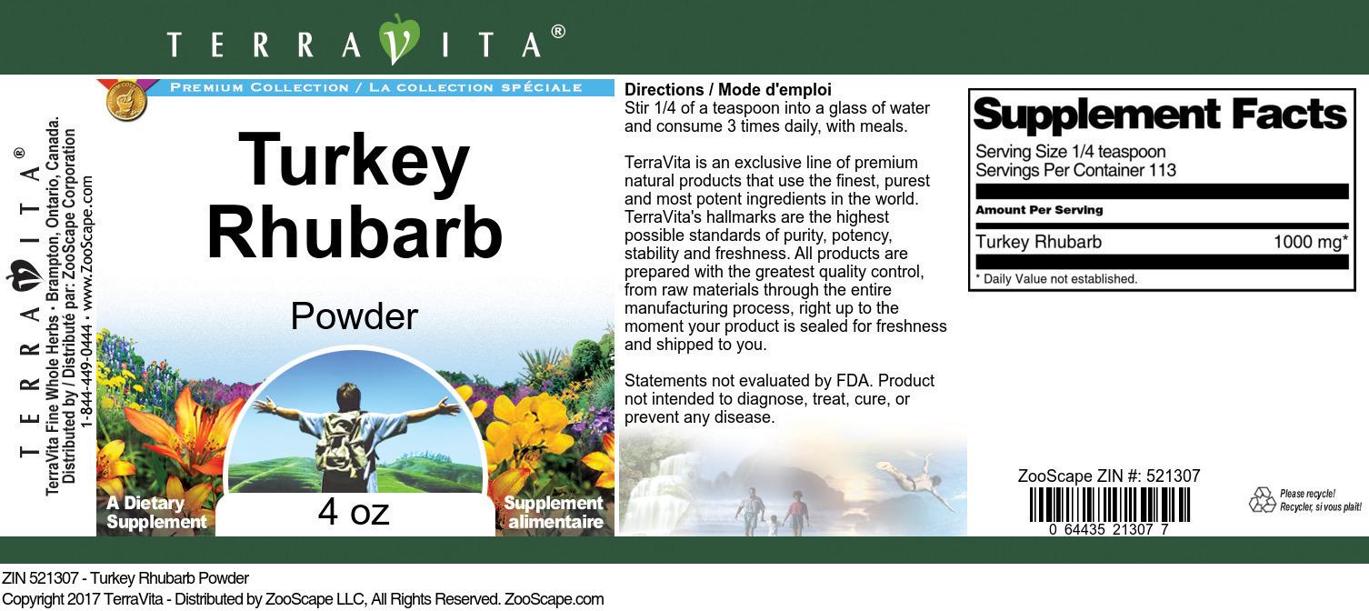 Turkey Rhubarb Powder