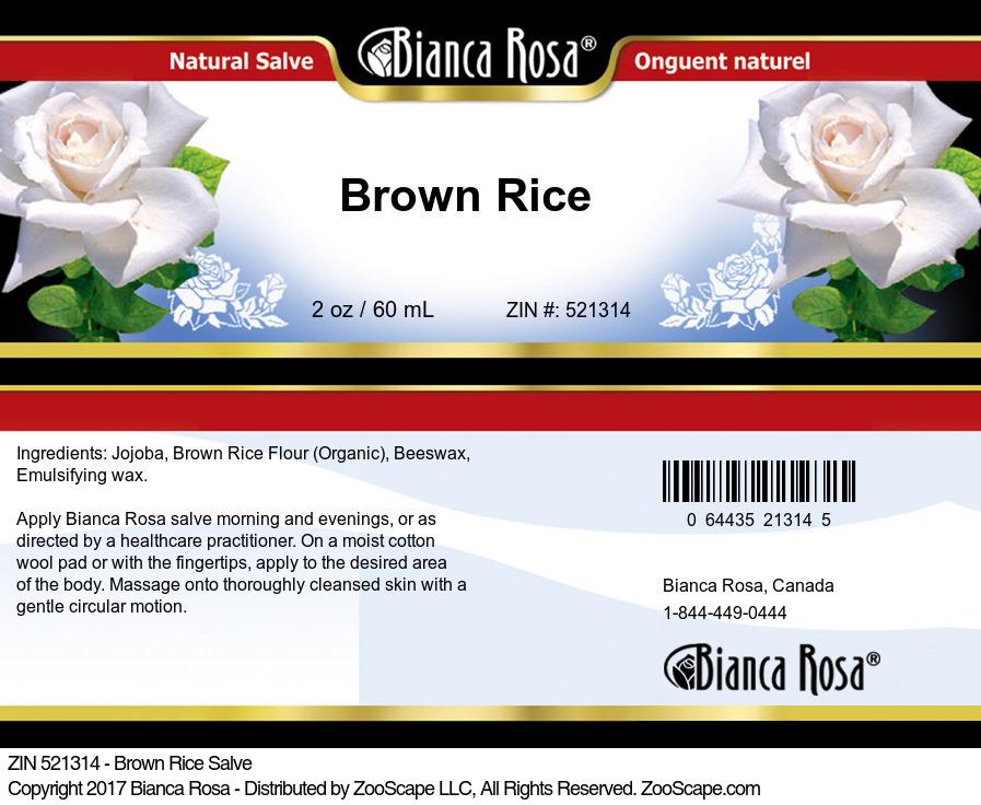 Brown Rice Salve