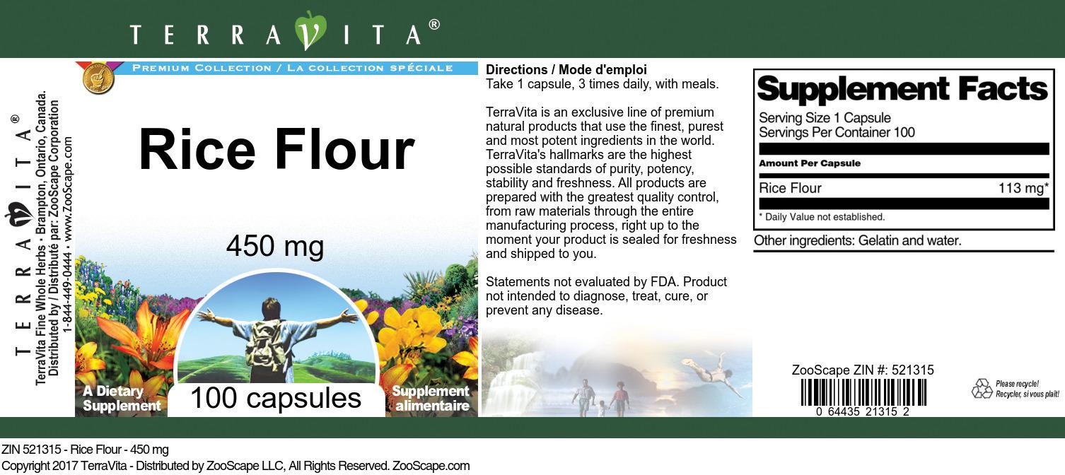 Rice Flour - 450 mg