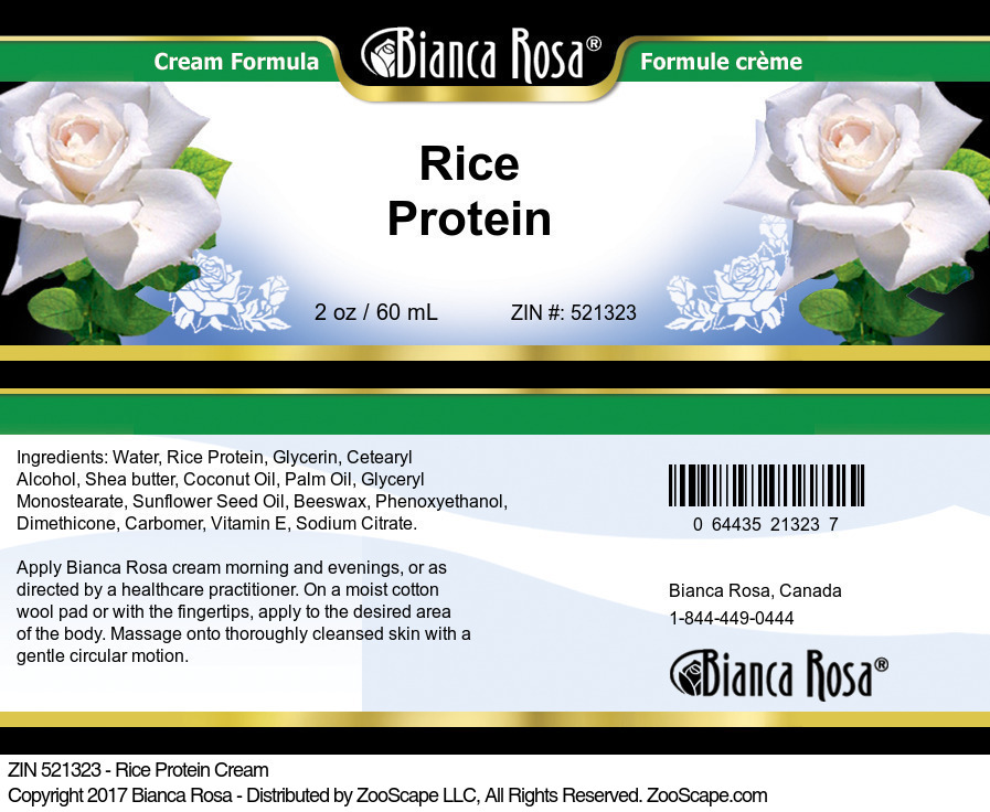 Rice Protein Cream
