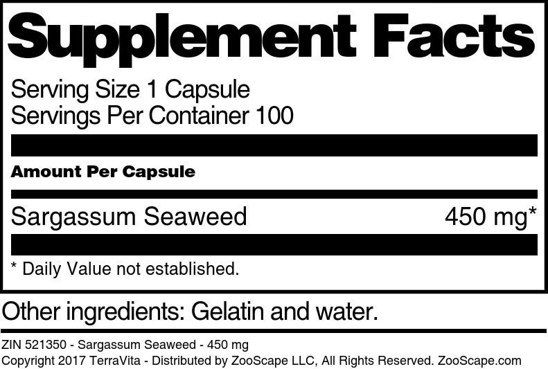 Sargassum Seaweed - 450 mg