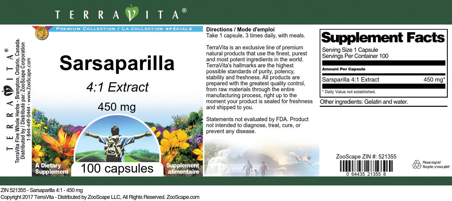Sarsaparilla 4:1 - 450 mg