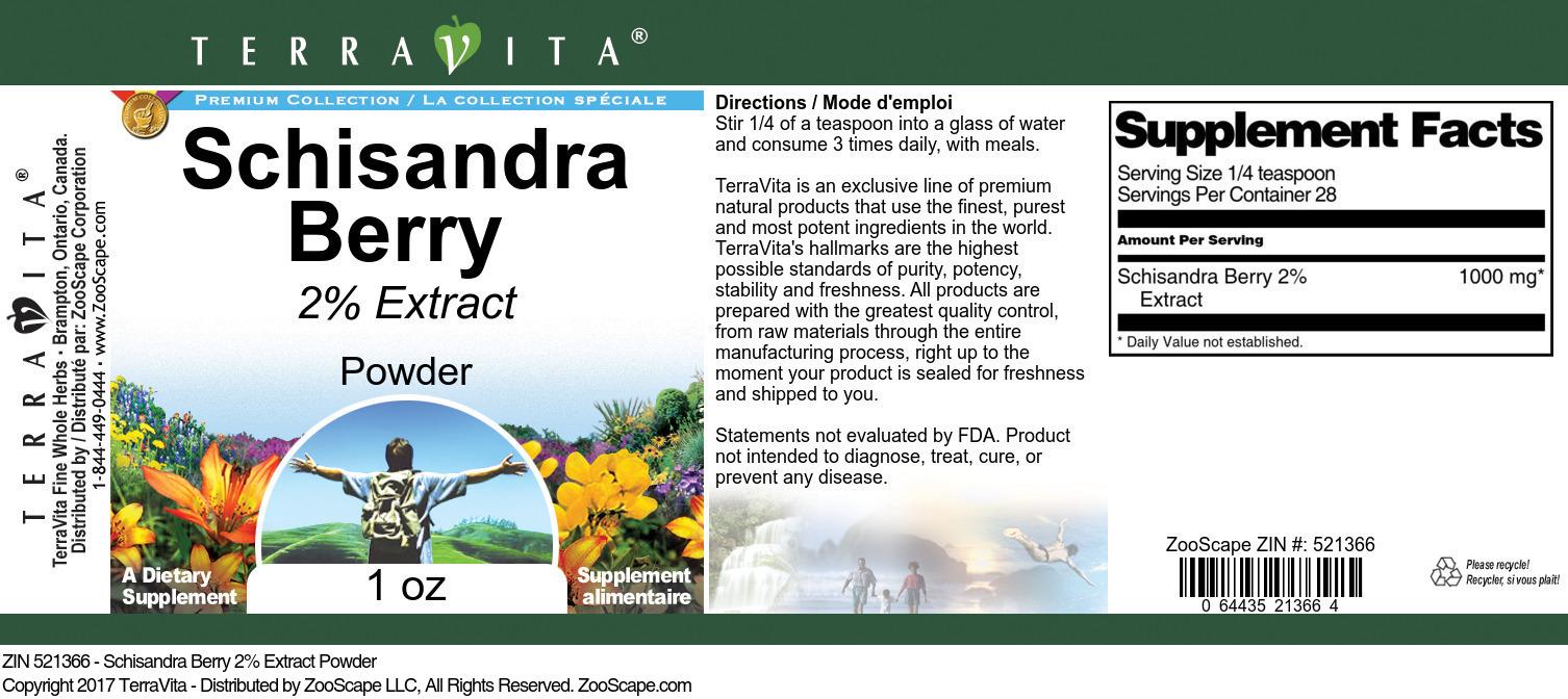 Schisandra Berry 2% Powder