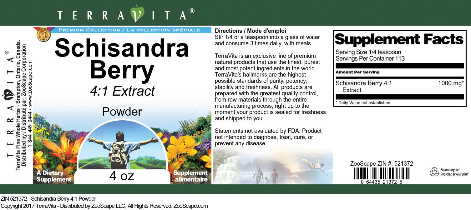 Schisandra Berry 4:1 Powder