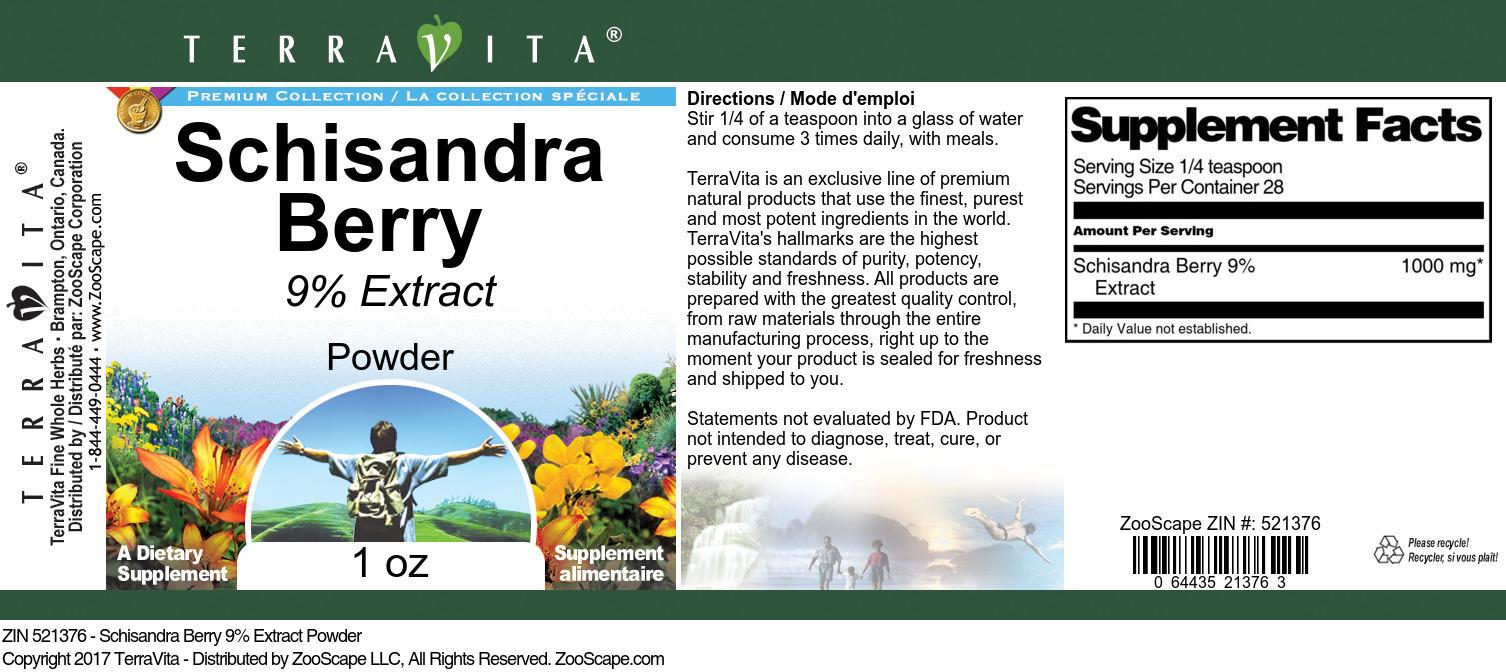 Schisandra Berry 9% Powder