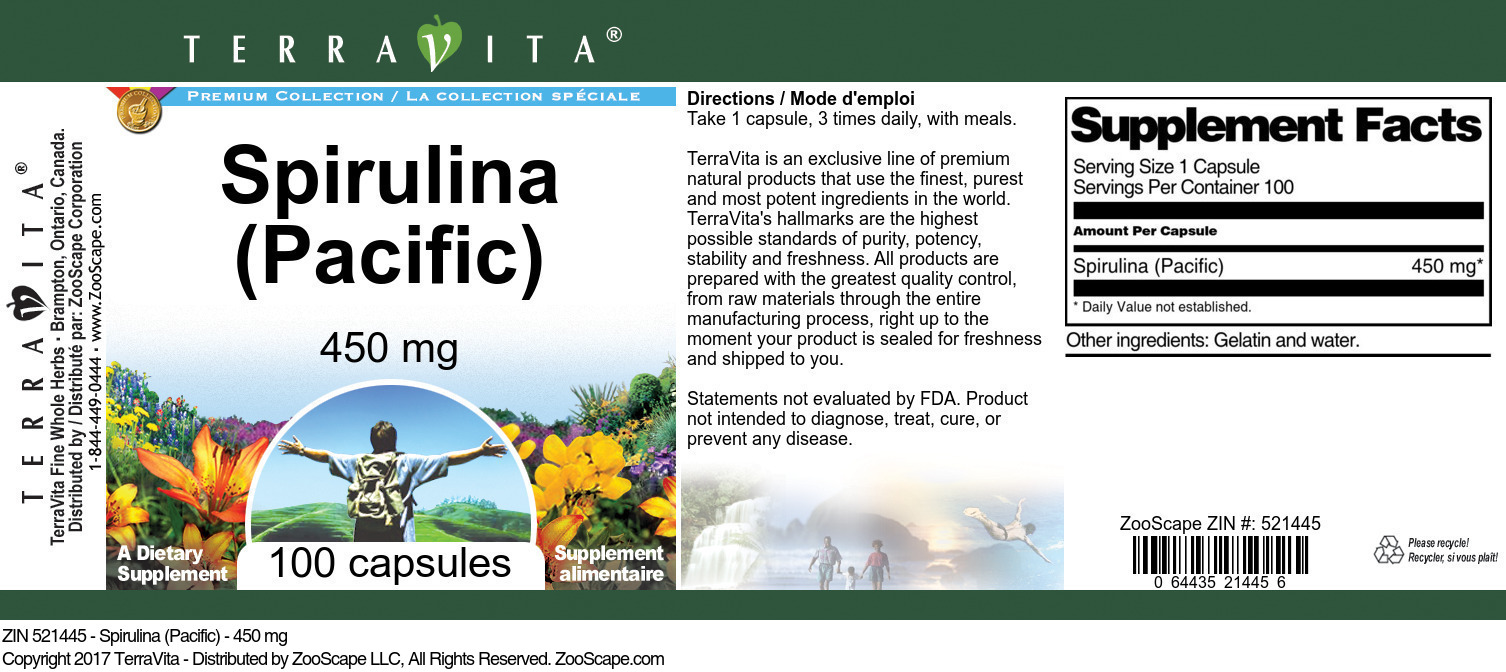 Spirulina (Pacific) - 450 mg