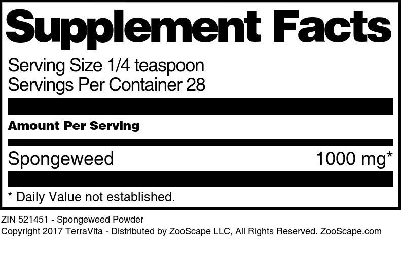 Spongeweed Powder