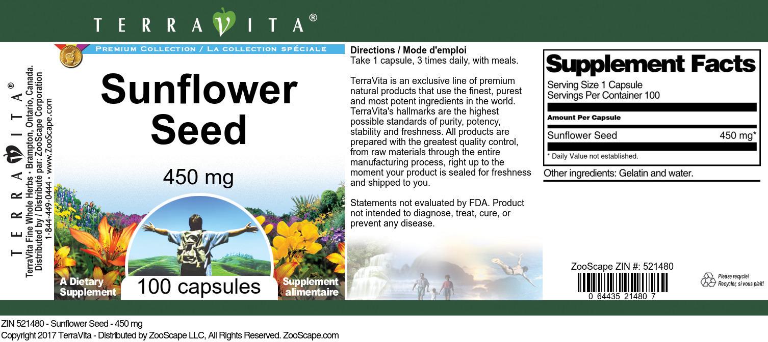 Sunflower Seed - 450 mg