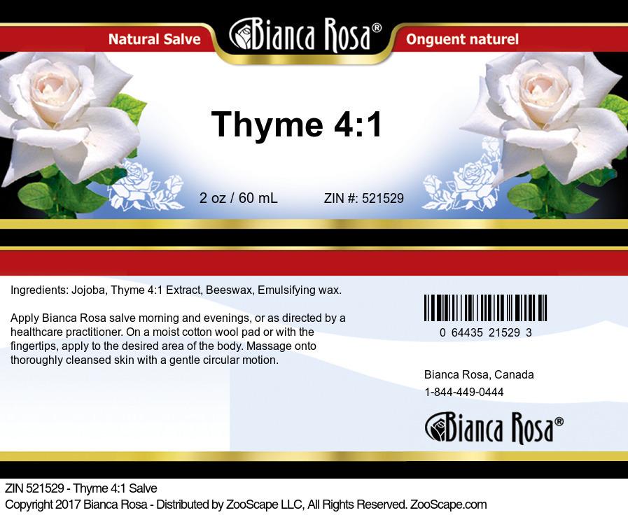 Thyme 4:1 Salve