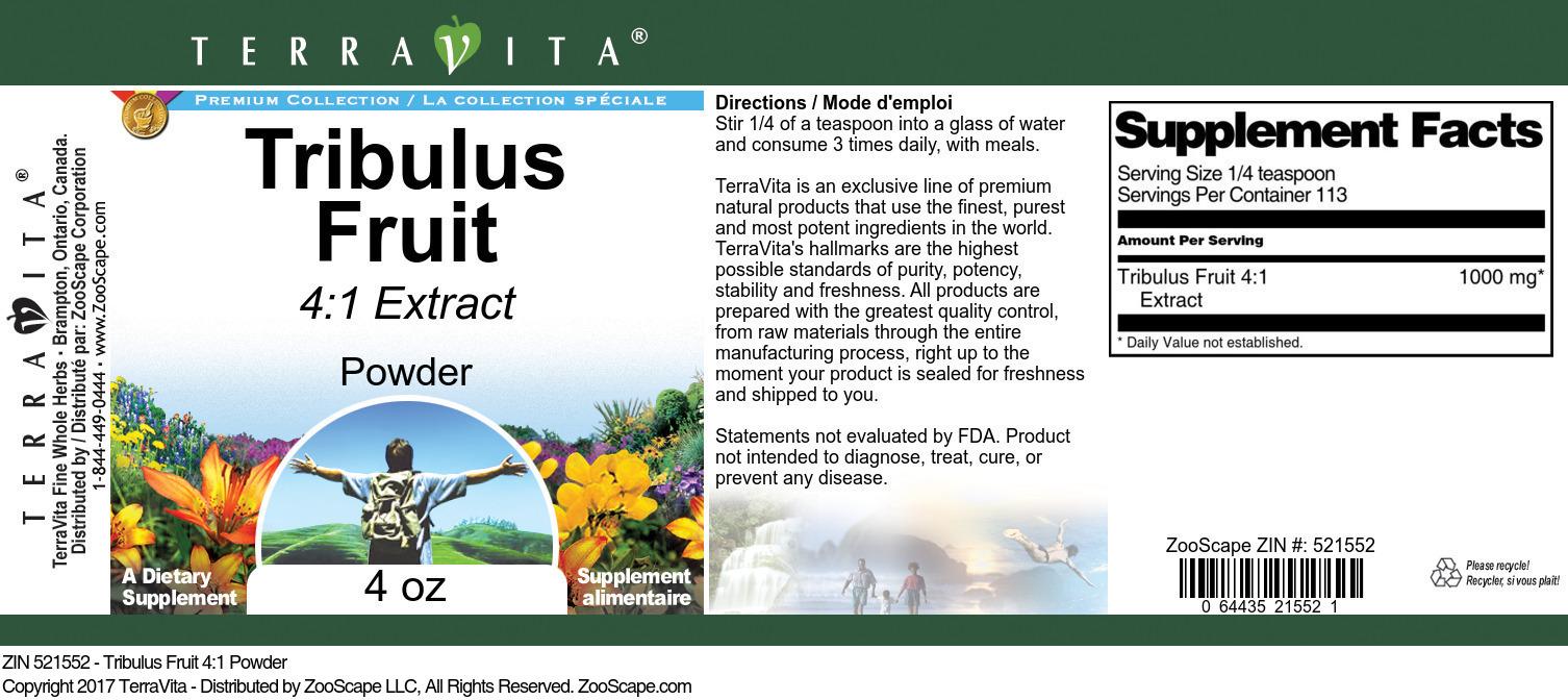 Tribulus Fruit 4:1 Powder