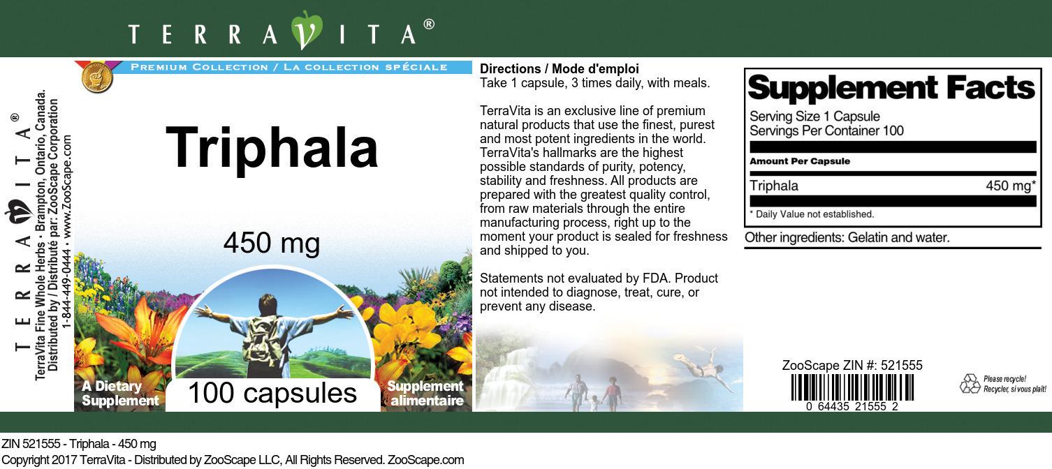 Triphala - 450 mg