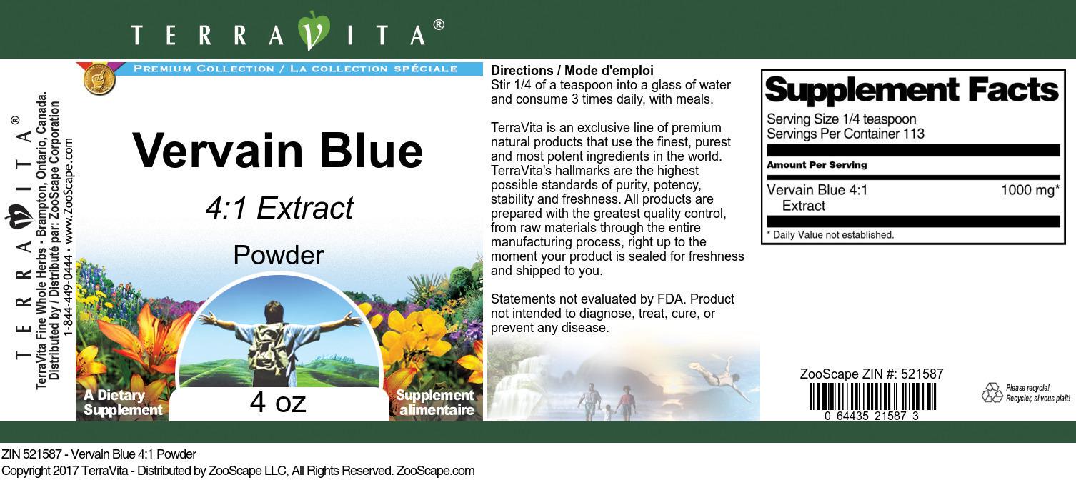 Vervain Blue 4:1 Powder